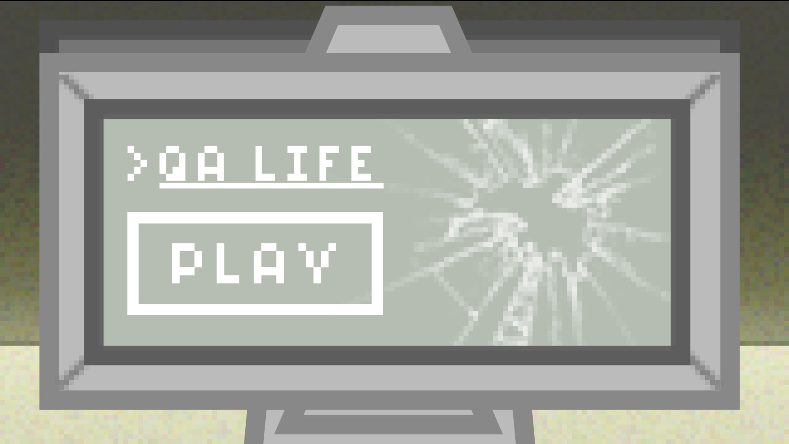 QA life main screen