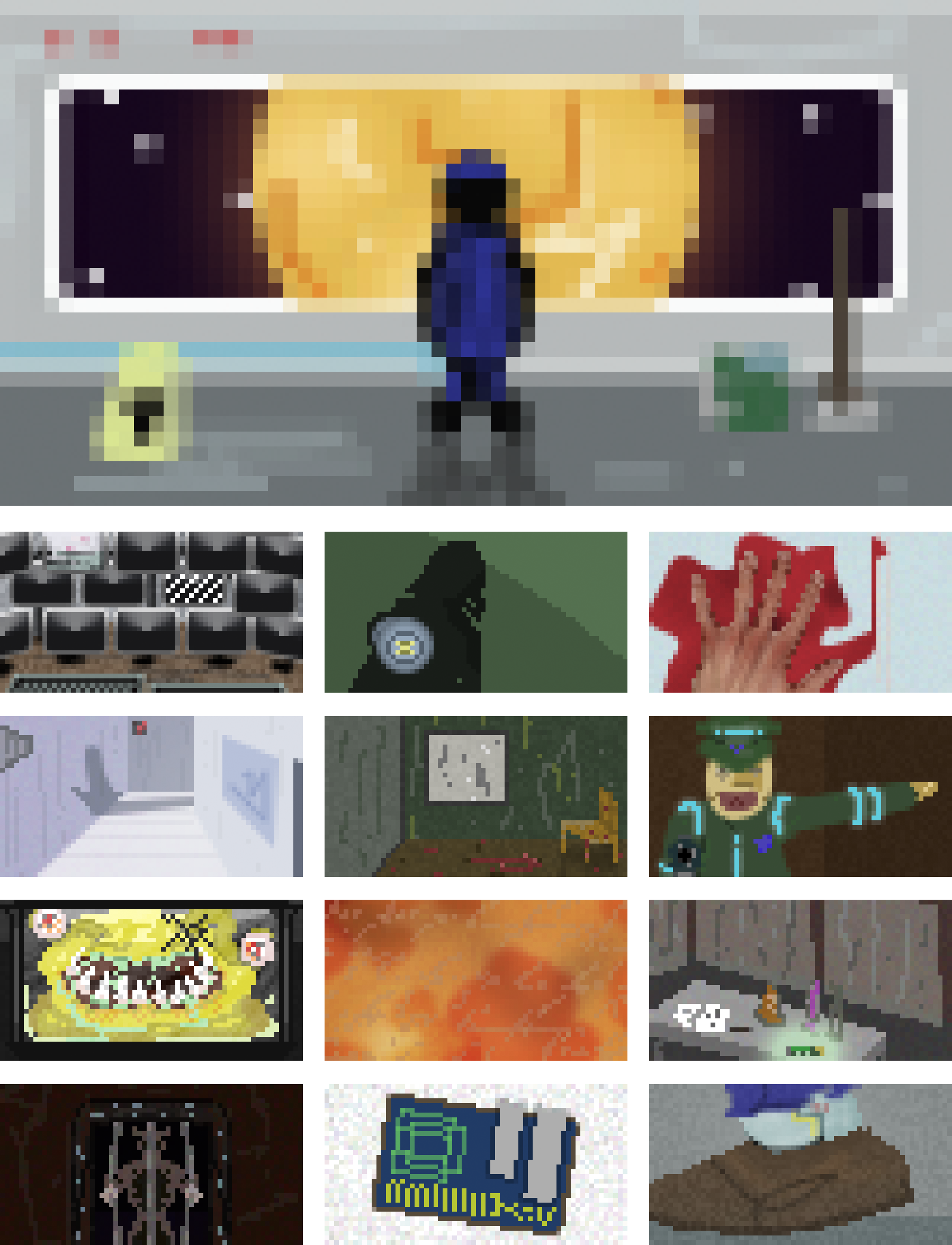 Space Escape pixel artwork collage