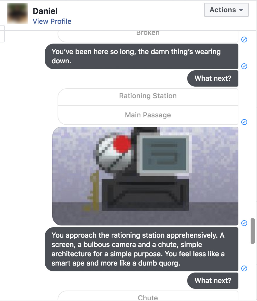 Example of the Story Bot game engine