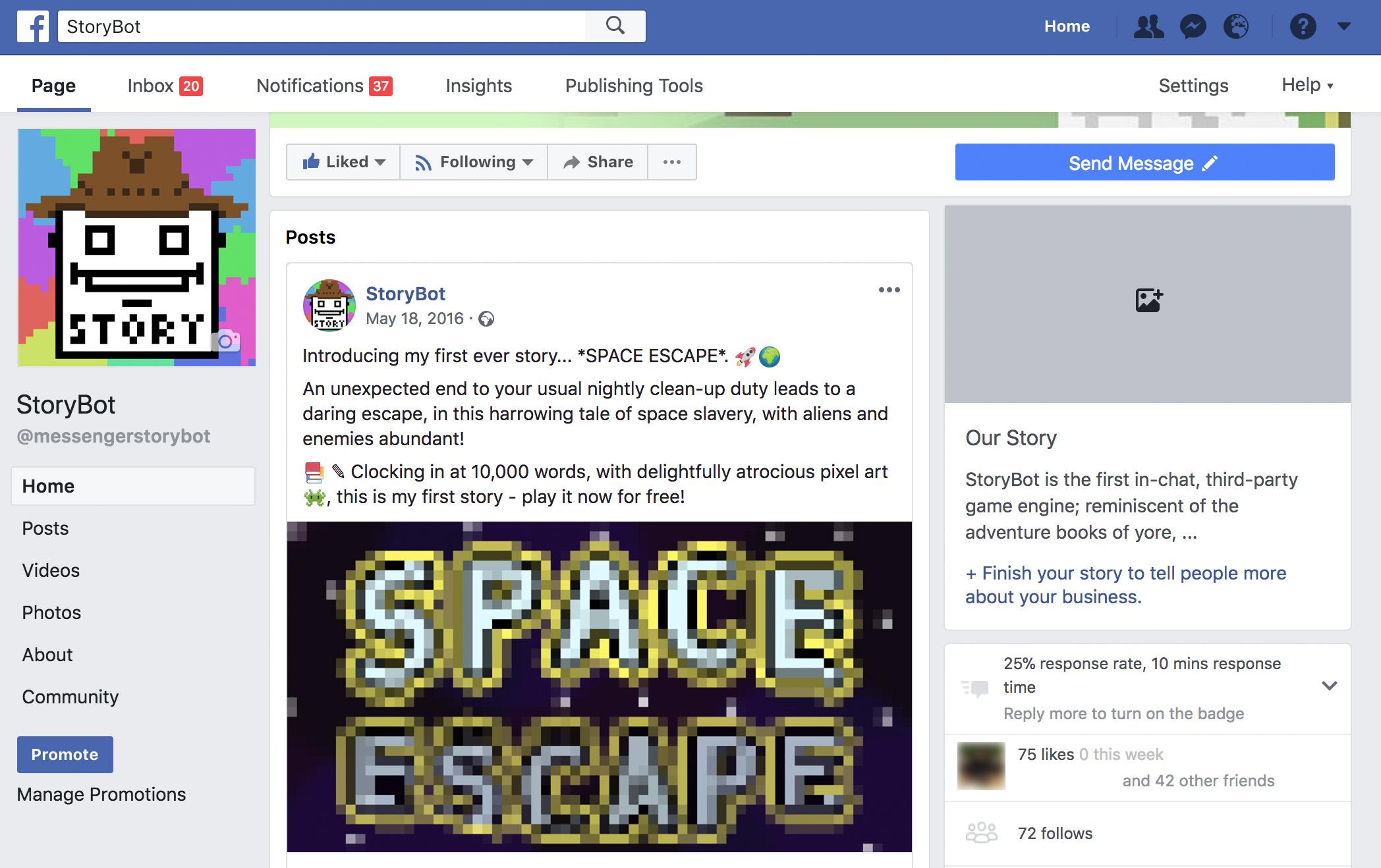 StoryBot Facebook
